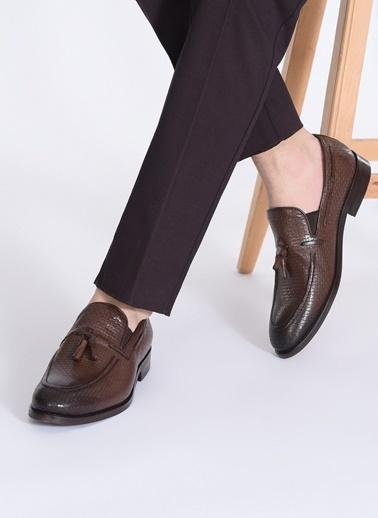 D by Divarese Püsküllü Klasik Deri Ayakkabı Kahve